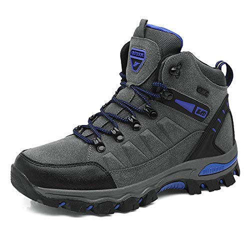 Y-PLAND Male casual outdoor hiking shoes, female spring and autumn and winter comfortable high shoes, couple hiking shoes-gray_EU37