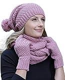 Hilltop - Set de bufanda, gorro y guantes o calentadores de brazo - para mujer/conjunto de...