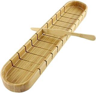 LAEMALLS Trancheuse à Pain en Bambou, Manuelle Planche à Couper Guide de trancheuse pour Pain Maison, Toast Sandwich Jambo...