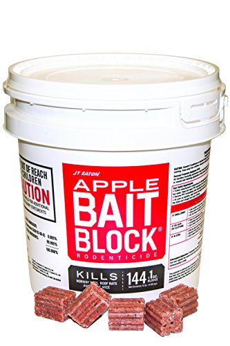 JT Eaton 709-AP Bait Block Rodenticide Anticoagulant Bait, Apple Flavor, for Mice and Rats (Pail of...