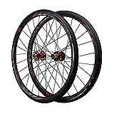 ZCXBHD Ruedas de Bicicleta de Carretera 700C Carbono Carretera 40MM Juego de Ruedas de Bicicleta Llantas Disco Freno QR 7 8 9 10 11 Velocidad (Color : Red)