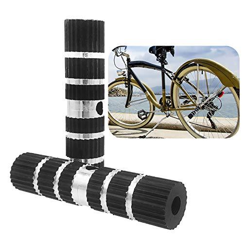 VINLINGDAI Pedale BMX in Lega di Alluminio,Pedana Bicicletta Antiscivolo Cilindriche per BMX Bicicletta(2 Pezzi/Nero)