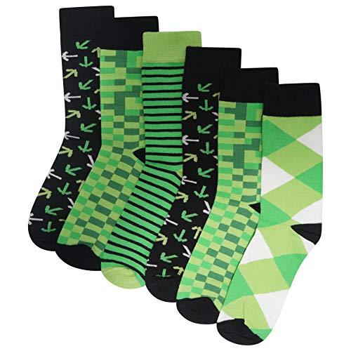 Pixel Socken für Herren/Jungen, Baumwolle, 6 Stück Gr. 37/42 EU, multi