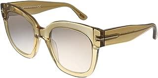 Sunglasses Tom Ford FT 0613 Beatrix- 02 45F shiny light brown / gradient