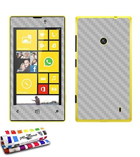 MUZZANO Wandtattoo Nokia Lumia 520[Carbon] [grau] Eingabestift und Reinigungstuch angeboten–Der Schutz Kratzfest ultimative, Elegante und nachhaltige für Ihr Nokia Lumia 520