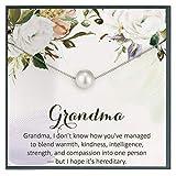 Regalo de la abuela de nieto, generaciones, regalo para regalo de cumpleaños de abuela, joyería de abuela, regalo de abuelita