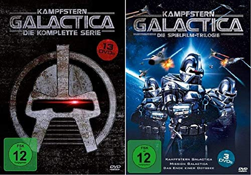 Kampfstern Galactica Die komplette Serie + Die Spielfilm-Trilogie [DVD Box Set]