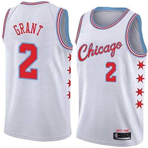 XSJY Jersey De Baloncesto De Los Hombres: Chicago Bulls # 2 Horace Grant Jersey, Edition Jersey, Baloncesto De Malla Bordado Swingman Jersey,XXL:185~190cm/95~110kg