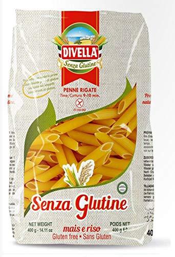 Divella Penne Rigate Senza Gluten 400G. Gluten Free Pasta - Penne - 3 pack