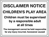 vsafety 72028bf-r Allgemeine Informationen Sign Haftungsausschluss Merken,/Bereich für Kinder, starrer Kunststoff, Landschaft, 400mm x 300mm, schwarz