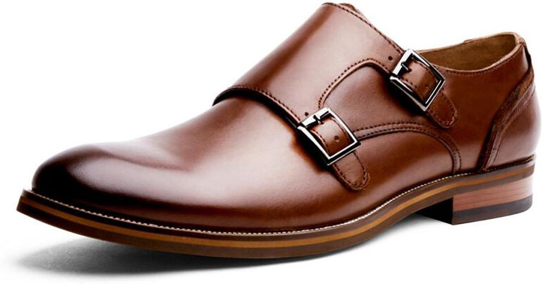Bsing Mens New Casual Schwarz Braun Leder Smart Smart Smart Formale Schnalle Schuhe UK-Größe 6 7 8 9 10 11  3ea634