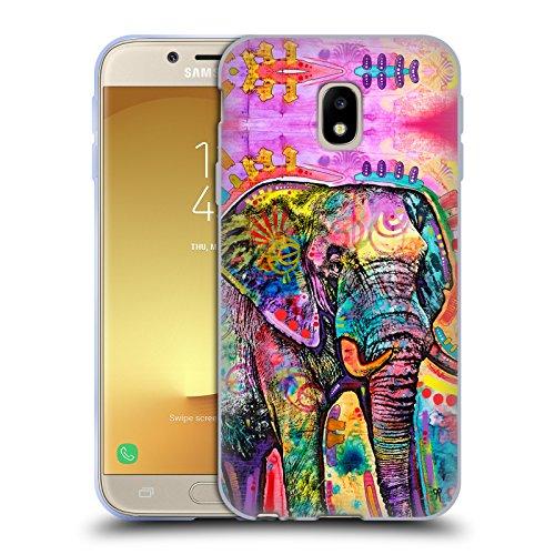 Head Case Designs Oficial Dean Russo Elefante Vida Silvestre 2 Carcasa de Gel de Silicona Compatible con Samsung Galaxy J3 (2017)