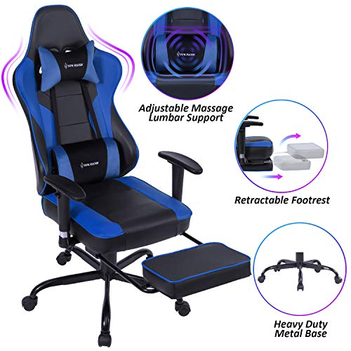 VON RACER Massage Gaming Chair - High Back Racing PC Computer Desk Office Chair...