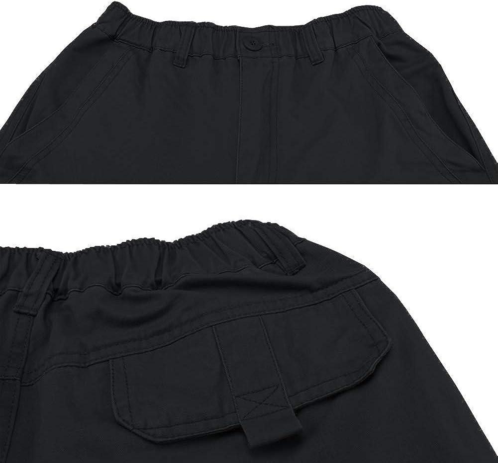 Meerway Pantalon Homme de Chino Pantalons de Cargo de Travail Stretch /élastique Ceinture
