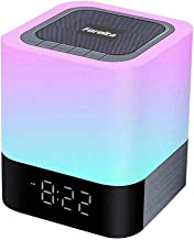Foreita Night Light Bluetooth Speaker, Touch Control Bedside Lamp, Dimmable Warm Light Lamp, Alarm Clock & 4000mAh Battery...