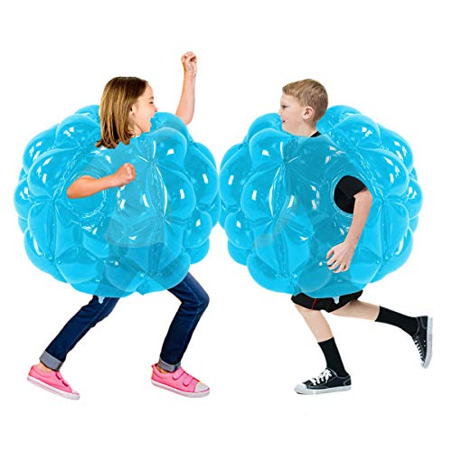 SUNSHINEMALL 2 PC Bumper Balls, Inflatable Body Bubble Ball Sumo Bumper Bopper Toys, Heavy Duty Durable PVC Vinyl Kids Adults Physical Outdoor Active Play