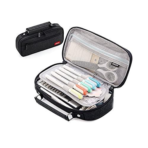 YJKL Caja de papelería, bolsa de lápices multifuncional, estuche para lápices, diseño de ranura para bolígrafo, lona universal y portátil, gran capacidad