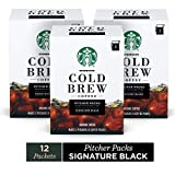 Starbucks Cold Brew Coffee   Signature Black Pitcher Packs   3 Boxes (Makes 6 Pitchers Total)