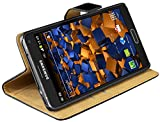 mumbi Echt Leder Bookstyle Case kompatibel mit Samsung Galaxy Note 4 Hülle Leder Tasche Case Wallet, schwarz