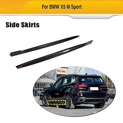 QCCQ Le minigonne Laterali per Auto Sono Adatte per BMW X5 M Sport Nero Fibra di Carbonio CF Pedane Laterali 2019 2020 Sottoporta Minigonne