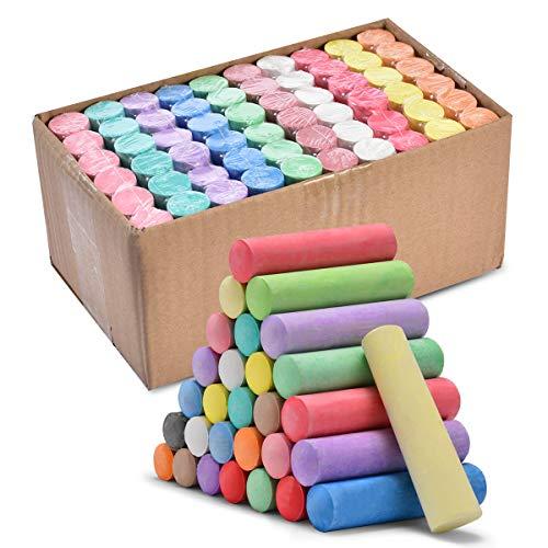 60pcs Grande Gessetti, lavabile Gessetti di Strada Senza Polvere Jumbo Multicolori Non tossici Enorme Gessetti colorati