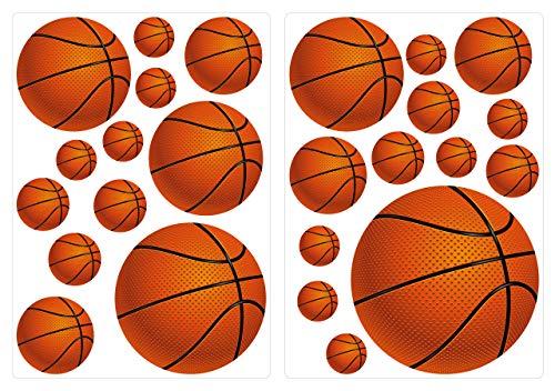 dekodino® Wandtattoo Basketbälle Aufkleber Set 25 Stück Kinderzimmer Junge Deko