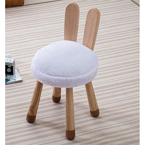 NYDZDM Tabouret créatif en Bois Massif Tabouret pour Enfants Designer Furniture Chaise pour bébé Amovible et Lavable Tabouret pour Animaux de Compagnie, 30x51x36cm (Color : C)
