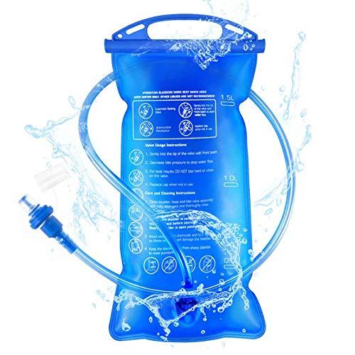 Idefair Vescica per idratazione, Vescica per idratazione Hydration Bladder 1.5L / 2L / 3L Serbatoio d'Acqua Portatile a Prova di perdite per Escursionismo Campeggio Corsa Ciclismo