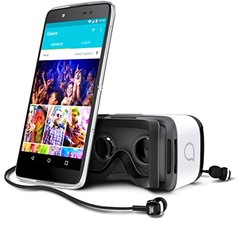 Alcatel Idol 4 - Smartphone Libre Android (Pantalla 5.2', cámara 13 MP, 16 GB, Octa-Core 1.7 GHz, 3 GB RAM), Plateado - con Gafas de Realidad Virtual