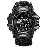 Reloj tactico Militar Relojes Supervivencia Militar Multifuncional Relojes Brújula para Hombre
