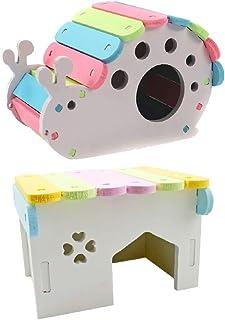 2個 ペットハムスター かわいい 家リスモルモット ベッド 小動物生息地 おもちゃ