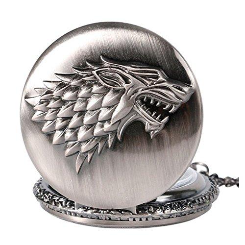 Stark Argent Montre a Gousset Game of Thrones Le Trone de Fer C8