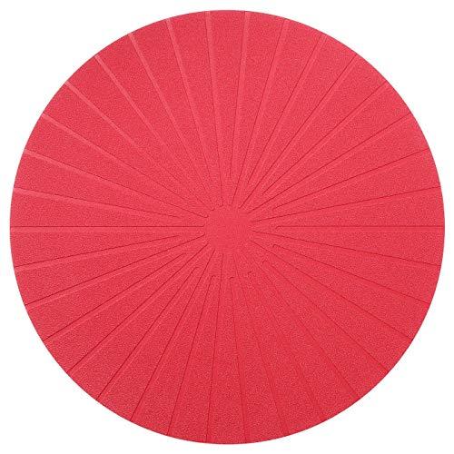 Ikea Panna - Mantel individual redondo (37 cm), color rojo