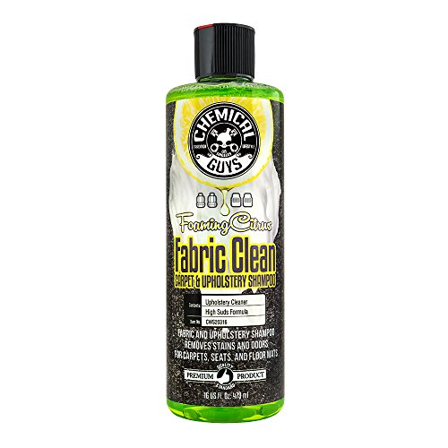 Chemical Guys CWS20316 Foaming Citrus Fabric Clean Carpet & Upholstery Cleaner (Car Carpets, Seats & Floor Mats), 16 oz.