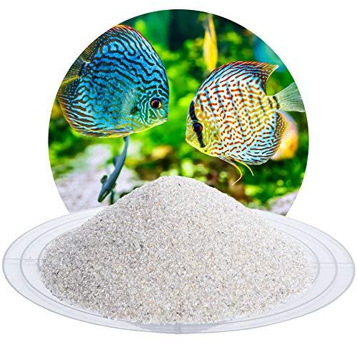 Schicker Mineral Aquariumsand Aquariumkies Natur im 25 kg Sack, kantengerundet, gewaschen, ungefärbt, (0,4-0,8 mm)