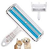 Cslada Quitapelusas para Mascotas, Cepillo para Pelusas, Rodillo Reutilizable para Eliminar el Pelo de Perro o Gato, sofás, Ropa, alfombras, Cojines, Camas, Coches, etc. (Azul)