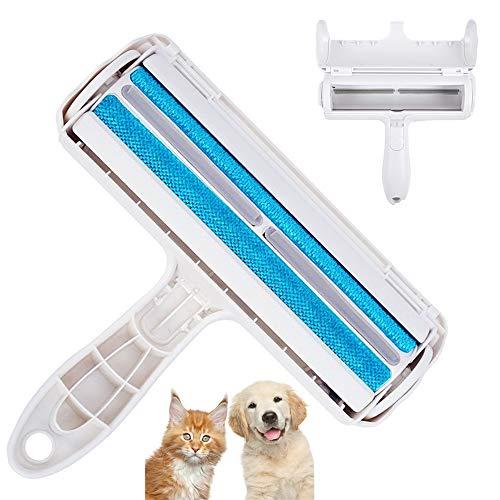 Huisdier dierenhaarverwijderaar, pluisborstel, huisdier pluisroller, herbruikbare pluisborstel voor het verwijderen van hondenhaar, kattenhaar, perfect voor banken, kleding, tapijten, kussens, bedden enz. (blauw)