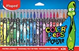 Maped - Filzstifte, Fasermaler COLOR'PEPS MONSTER mit mittlerer Spitze - x24 Stifte