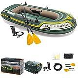 Chengstore - Juego de balsa de barco hinchable Seahawk, bote plegable para 2/3 personas, barco para niños, juego de barco con inflador, grueso y resistente al desgarro, bote inflable de 8.26 pies