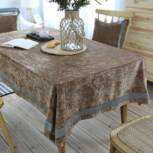 shiyueNB koningsblauw tafelkleed fluweel tafelkleed thuis keuken decoratie eettafel rechthoekig tafelkleed getoond 130X130cm