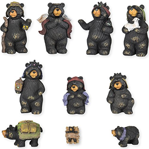 Black Bear Nativity Set 10 Pc Figurine Set Xlarge 7'