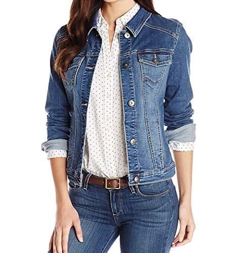 Wrangler Authentics Women's Stretch Denim Jacket, Weathered, Large
