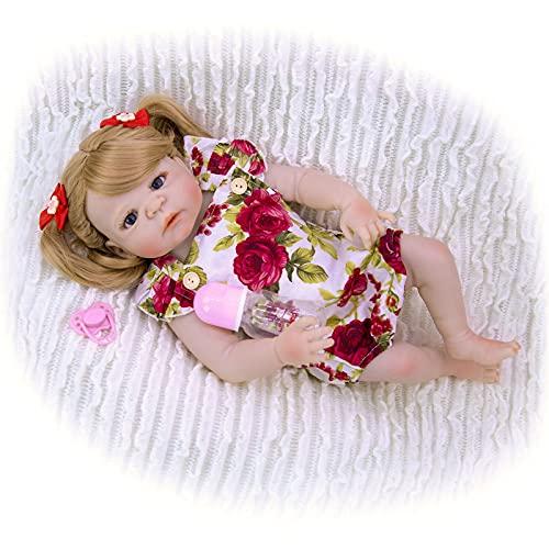 ZTLY Bebés renacidos, Muñecas de Silicona, adecuadas como Regalos, coleccionistas de muñecas, Amantes de la muñeca