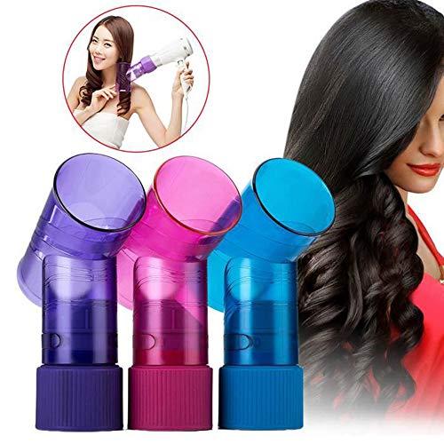 LONG-X Magique Rouleau De Cheveux Séchage Bouchon Sèche-Cheveux Vent Curl Sèche-Cheveux Couverture Rouleau Bigoudi Diffuseur Outils De Style,Violet