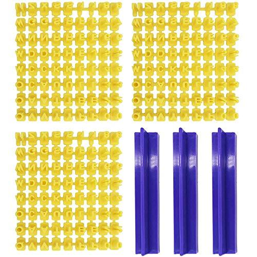 3 Set Lettere Timbro Alfabeto Timbro del Biscotto Alfabeto Lettere Biscotti Stampo Set Forma Biscotti Alfabeto Stampi Per Fondente Fai da Te per Fare Biscotti Glassa Pasticcini Cucina Marzapane