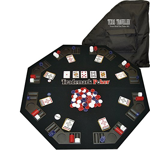 Trademark Poker Texas Traveller Table Top & 300 Chip Travel Set
