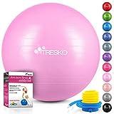 65CM TOMSHOO Anti-Burst Yoga Ball verdickt Stabilit/ät Balance Ball Pilates Barre k/örperliche Fitness Gymnastikball 45CM 55CM 75CM Geschenk Luftpumpe