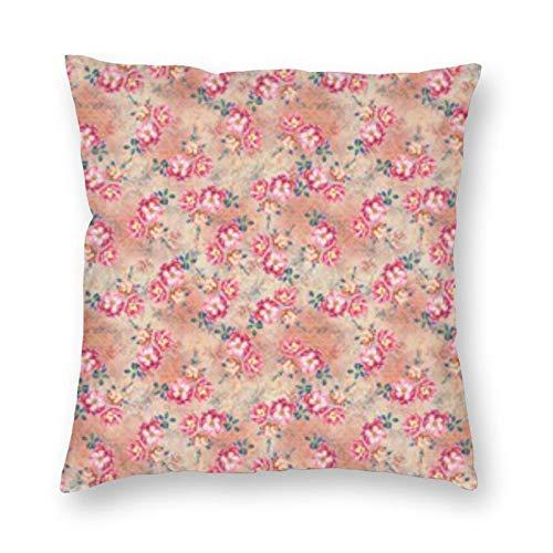 BONRI Wildflowers Rose Bouquets On Cream - Almohada cuadrada de 55,8 x 55,8 cm, decoración de almohada cuadrada, descanso cómodo y relajante, compañerismo cálido