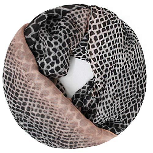 Glamexx24 Leo patroon XXL Slangsjaal rond loopsjaal dames luipaard sjaal meisje dierenprint doek