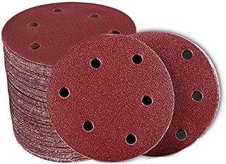 Lheng 5-Inch/125mm 6 Holes 40 Grit Hook and Loop Sanding Discs Sand Sheet 20pcs